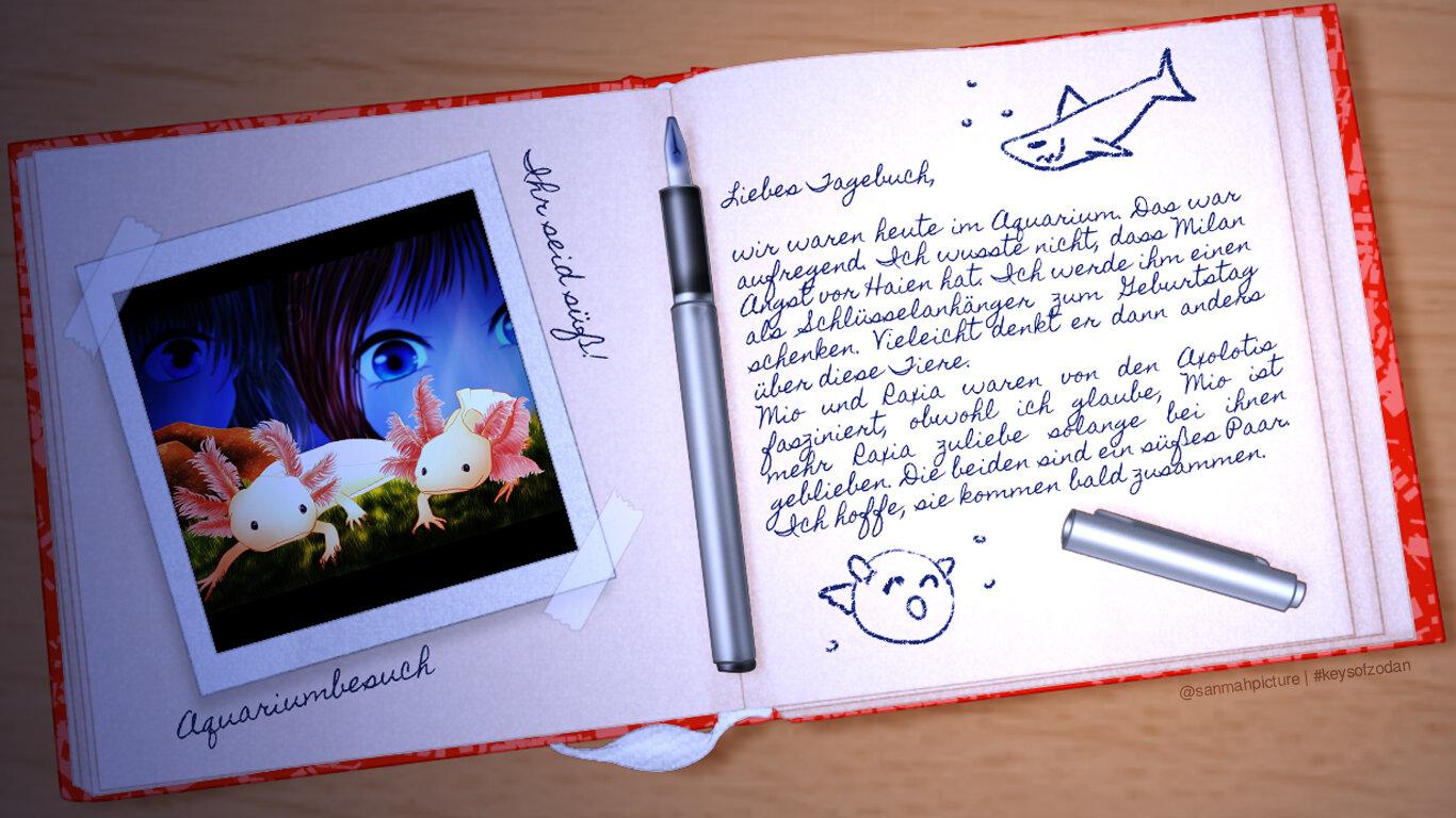 Mio+Raxia Axolotis Tagebuch